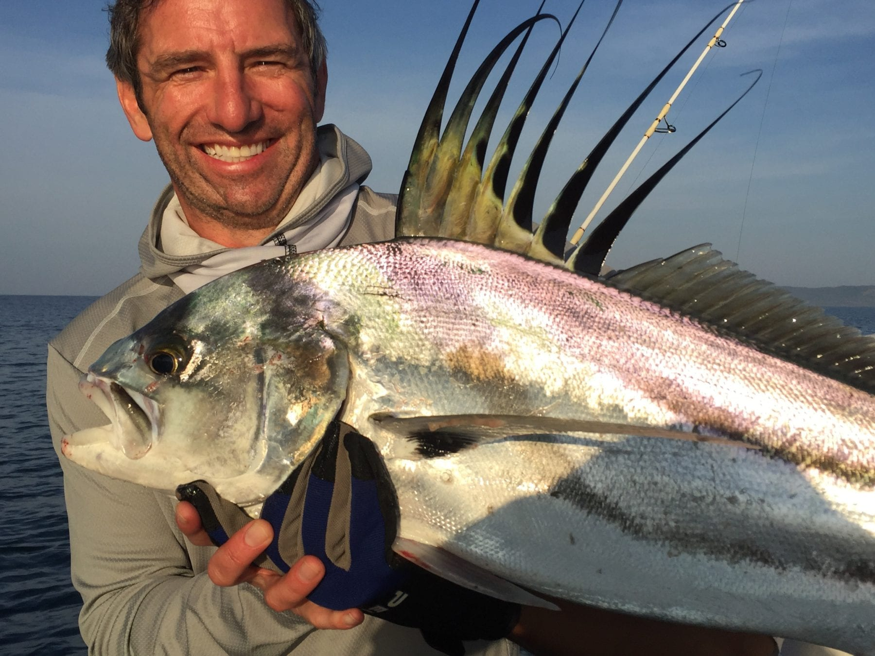 Rooster fish caught in punta naranjo panama el rio negro for Rooster fish pictures