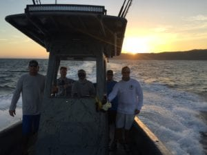 guys heading out for a day on the water fishing Panama