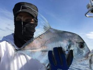 african pompano caught jigging near tuna coast in panama while on tours in panama