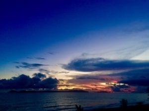 beautiful panama sunset over tuna coast