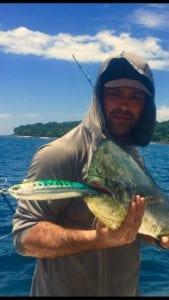 dorado caught inshore fishing while on panama fishing trip