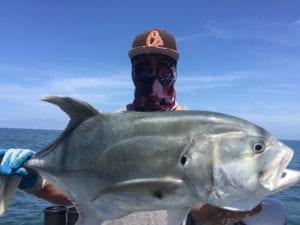 jack crevalii caught fishing in panama while at panama fishing lodge on vacation
