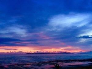 panama sunset picture over cebaco island