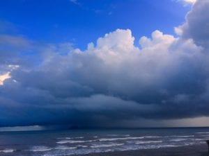 rain storm over cebaco island