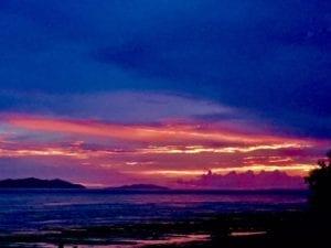 rainy season panama sunset